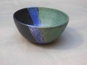 Schälchen, grün/schwarz/violett, 11x6,5cm, 11Euro
