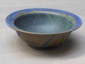 Schälchen, grün m. blauem Rand, 15x5,5cm, 12 Euro