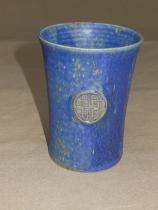 blauer Becher mit keltsichem Knoten(rund)