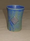blauer Becher mit keltischem Knoten(eckig), 10x,7,5cm, 12 Euro