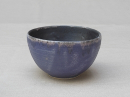 kleines Schälchen, violett/schwarz, 10x6cm, 9 Euro