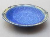 kleine Schale, blau m. grünem Rand, 13x4cm, 9 Euro