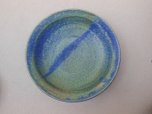 Tiefer Teller, blau/hell, 20x4,5cm, 16Euro