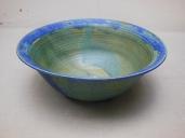 Schüssel, grün/blauer Rand, 22x6,5cm, 20 Euro cm