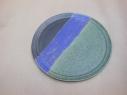 Teller bR, grün/violett/schw., 22cm, 15 Euro