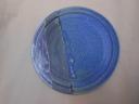 Teller bR, blau/violett/schw., 25,5cm, 20 Euro